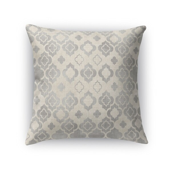 Kavka Designs grey/ ivory taranto accent pillow with insert
