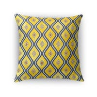 Kavka Designs yellow/ blue verona accent pillow with insert