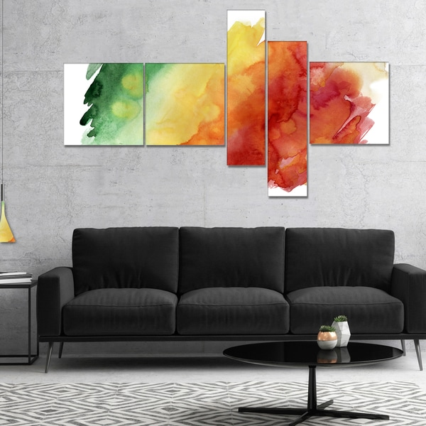 Designart 'Color Explosion' Abstract Canvas Art Print