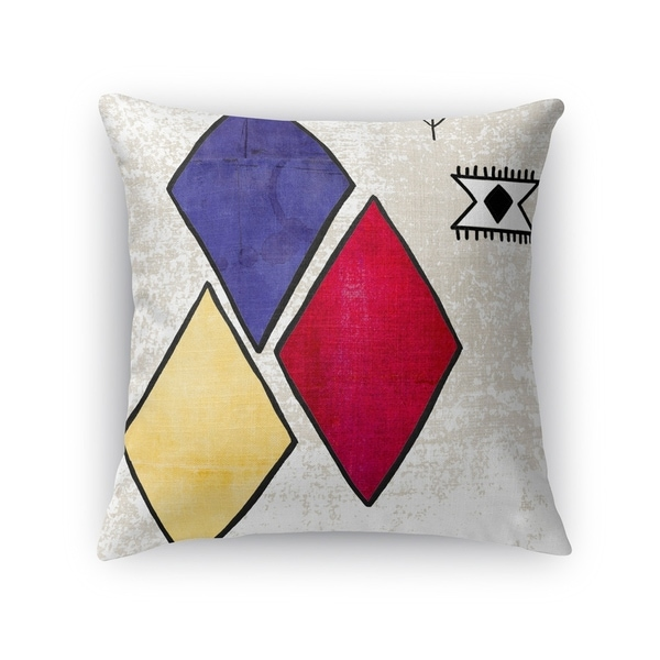 Kavka Designs red/ blue/ yellow/ ivory aglou accent pillow with insert