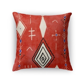 Kavka Designs red/ ivory/ blue mehaya accent pillow with insert