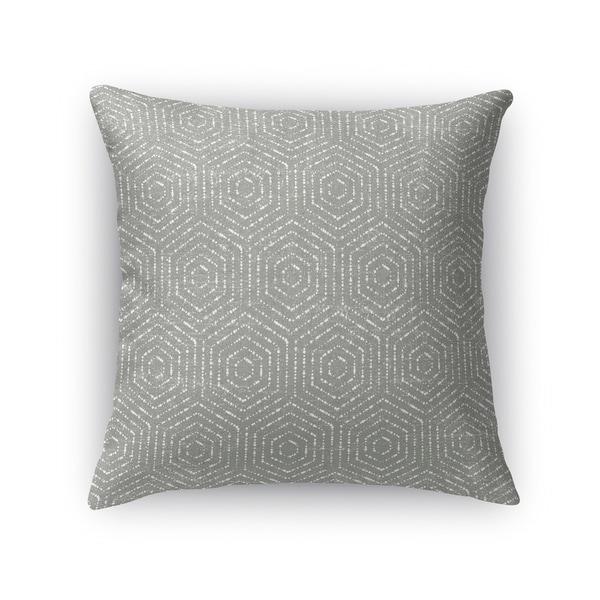 Kavka Designs grey patras accent pillow with insert