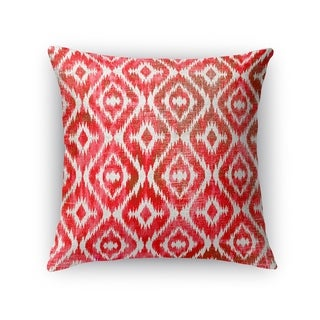Kavka Designs red/ pink omari warm pink accent pillow with insert