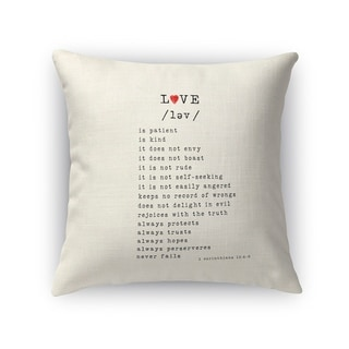 Kavka Designs red/ black love is accent pillow with insert