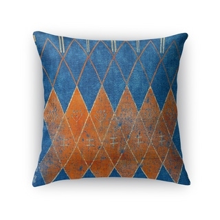 Kavka Designs blue/ orange mestara accent pillow with insert