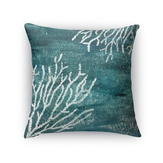 Kavka Designs green/ teal/ white sultana teal accent pillow with insert