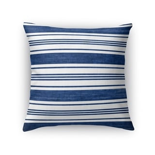 Kavka Designs blue/ white orleans accent pillow with insert