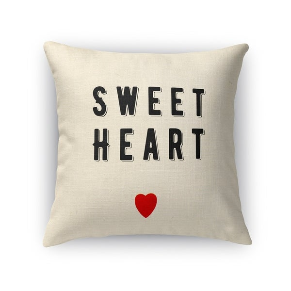 Kavka Designs black/ red sweet heart accent pillow with insert