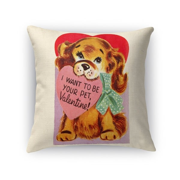 Kavka Designs red/ pink/ blue/ brown i want to be your pet accent pillow with insert