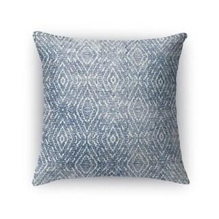 Kavka Designs blue zander dark blue destressed accent pillow by terri ellis with insert