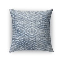 Kavka Designs blue zander dark blue destressed accent pillow by terri ellis with insert