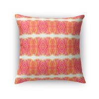 Kavka Designs pink/ orange sidra accent pillow with insert