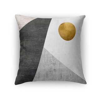 Kavka Designs gold/ black/ grey night moon accent pillow with insert