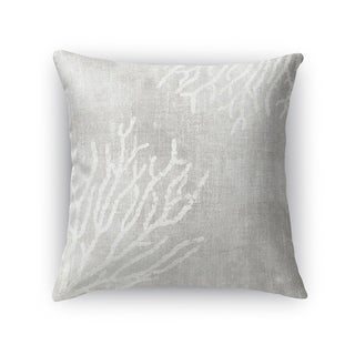 Kavka Designs grey/ white sultana gray accent pillow with insert