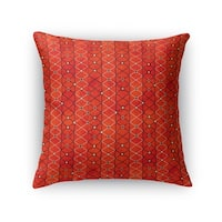 Kavka Designs orange/ rust fiesta accent pillow by terri ellis with insert