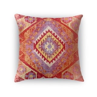 Kavka Designs red/ orange/ yellow tile accent pillow by terri ellis with insert