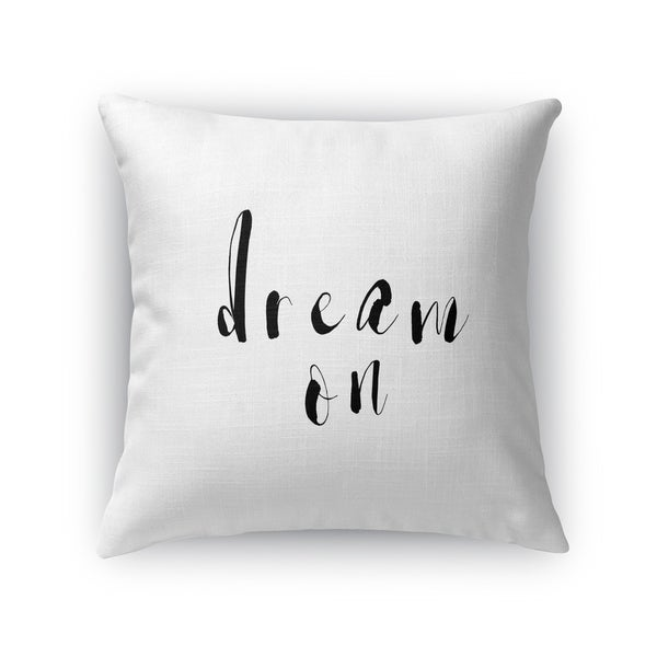 Kavka Designs black/ white dream on accent pillow with insert