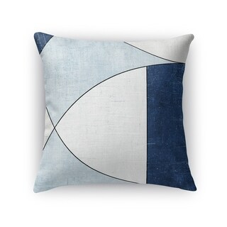 Kavka Designs blue/ ivory yoka accent pillow with insert
