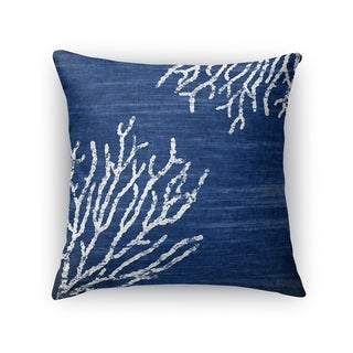 Kavka Designs blue/ white sultana blue accent pillow with insert