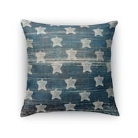 Kavka Designs ivory/ blue flag accent pillow by terri ellis with insert