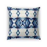 Kavka Designs blue/ ivory pillers accent pillow by terri ellis with insert