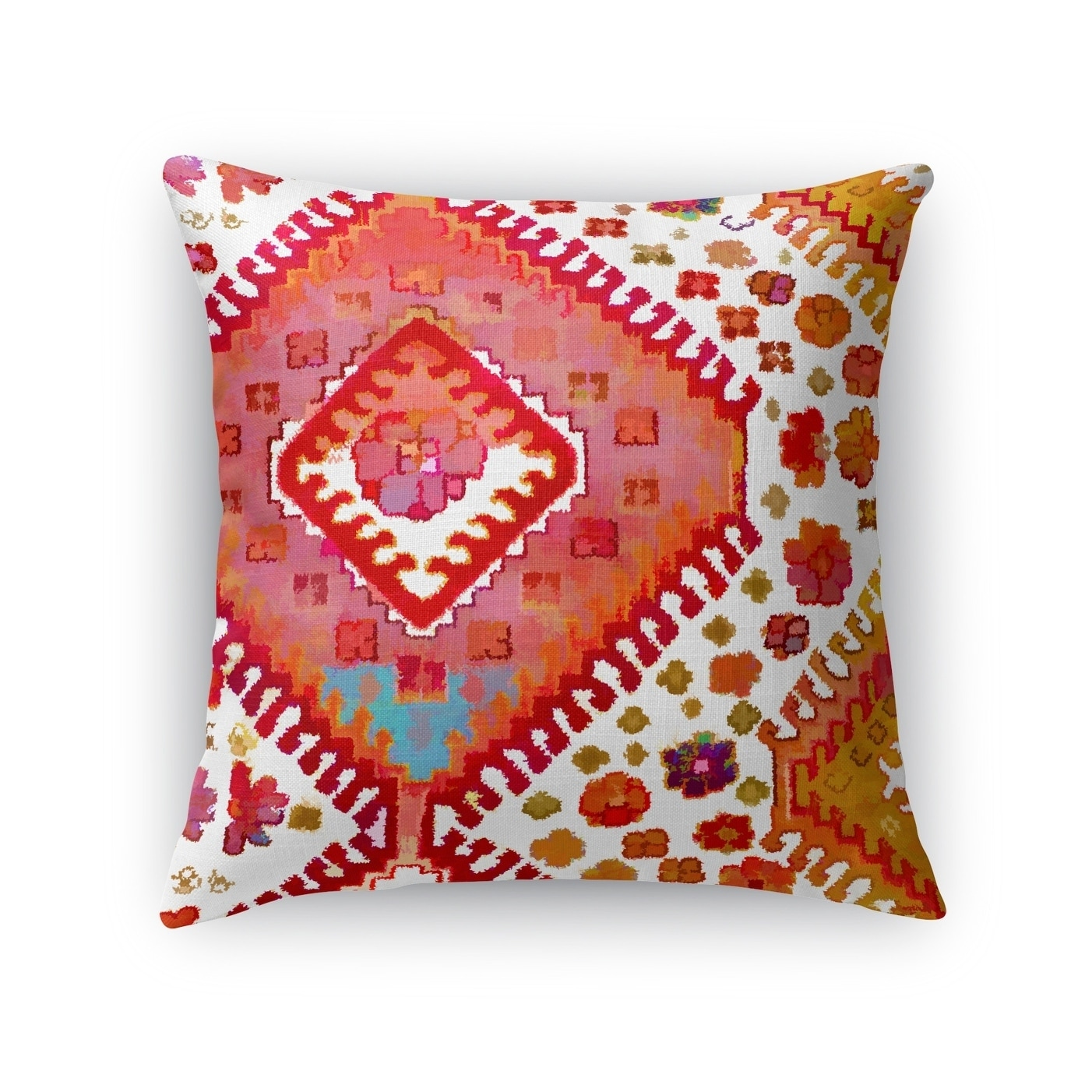 Kavka Designs pink/ blue/ orange arrow accent pillow by terri ellis with insert (18 x 18)