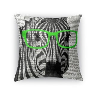 Kavka Designs green/ black/ white zebra in the green glasses accent pillow with insert