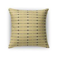 Kavka Designs yellow/ grey bait accent pillow by terri ellis with insert