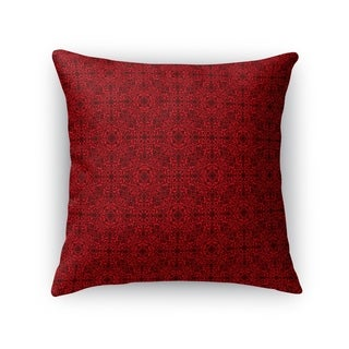 Kavka Designs red/ maroon tex accent pillow by terri ellis with insert