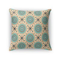 Kavka Designs blue/ ivory/ red bloom accent pillow by terri ellis with insert