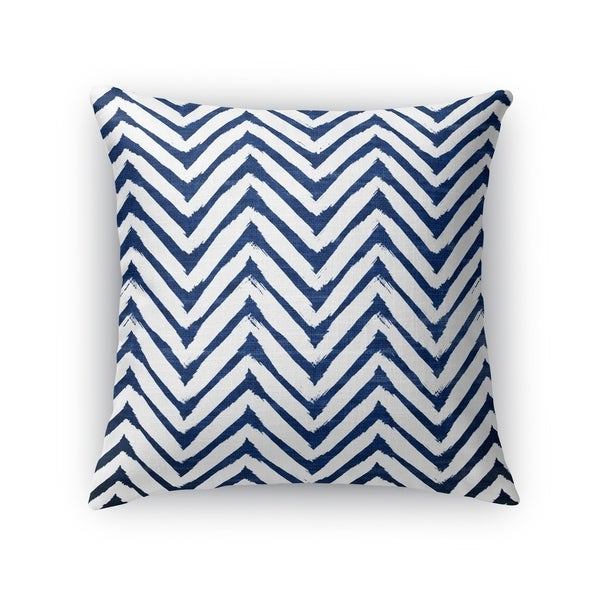 Kavka Designs blue/ white cambay blue accent pillow with insert