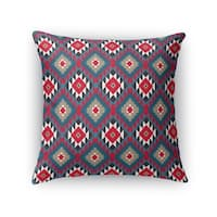 Kavka Designs red/ blue/ grey marika accent pillow by terri ellis with insert