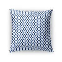 Kavka Designs blue/ white mana accent pillow by terri ellis with insert