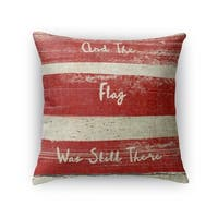 Kavka Designs red/ ivory flag accent pillow by terri ellis with insert