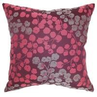 Fleur Floral Floor Pillow Bourdeaux