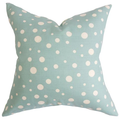 Bebe Polka Dots Floor Pillow Blue