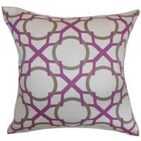Lacbiche Geometric Floor Pillow Wisteria