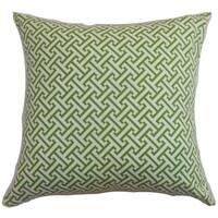 Quentin Geometric Floor Pillow Shamrock