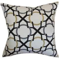 Lacbiche Geometric Floor Pillow Slate