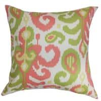Scebbi Ikat Floor Pillow Pink Green