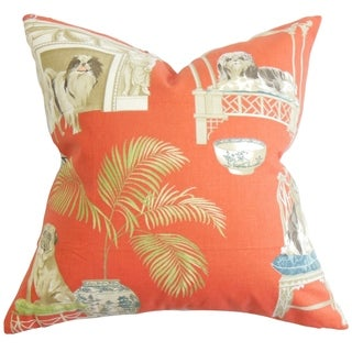 LNR Home Chantal Floral Clay 18-inch Pillow - Free Shipping Today - Overstock.com - 13969819