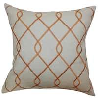 Jolo Geometric Floor Pillow Papaya
