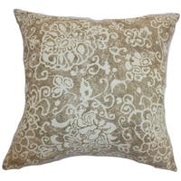 Jaffna Floral Floor Pillow Wheat