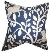 Jorja Foliage Floor Pillow Blue