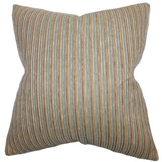 Elke Stripes Floor Pillow Brown