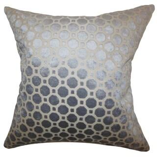 Kostya Geometric Floor Pillow Grey