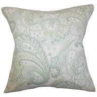 Iphigenia Floral Floor Pillow Green