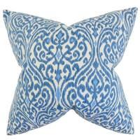 Ennis Ikat Floor Pillow Blue
