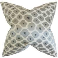 Fanna Geometric Floor Pillow Grey