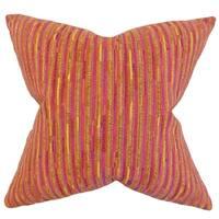 Qiturah Stripes Floor Pillow Yellow